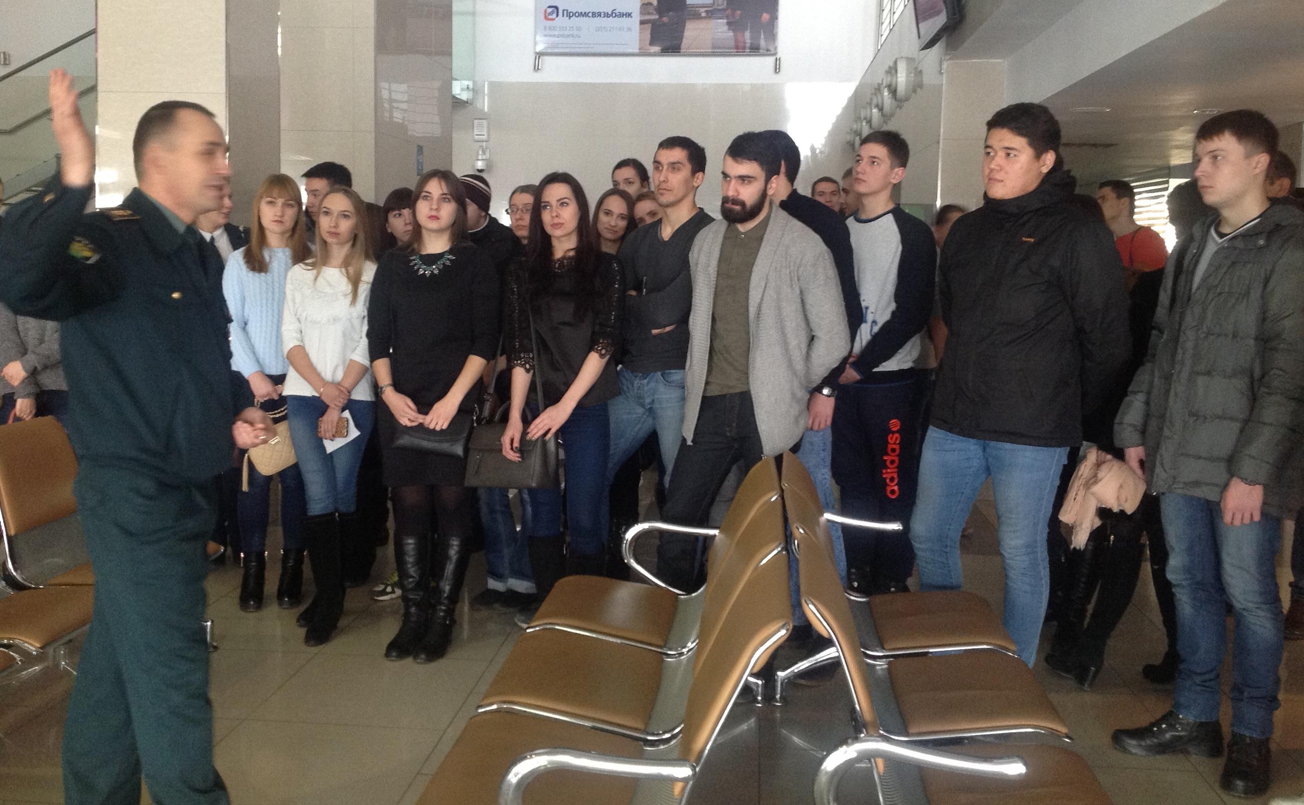 Студенты кафедры «Таможенное дело» с будущей работой на таможенном посту «Аэропорт Баландино» Челябинской таможни